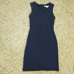 BOSTON PROPER navy dress 4 NWOT